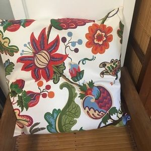 Pottery Barn pillow sham red floral modern 20""